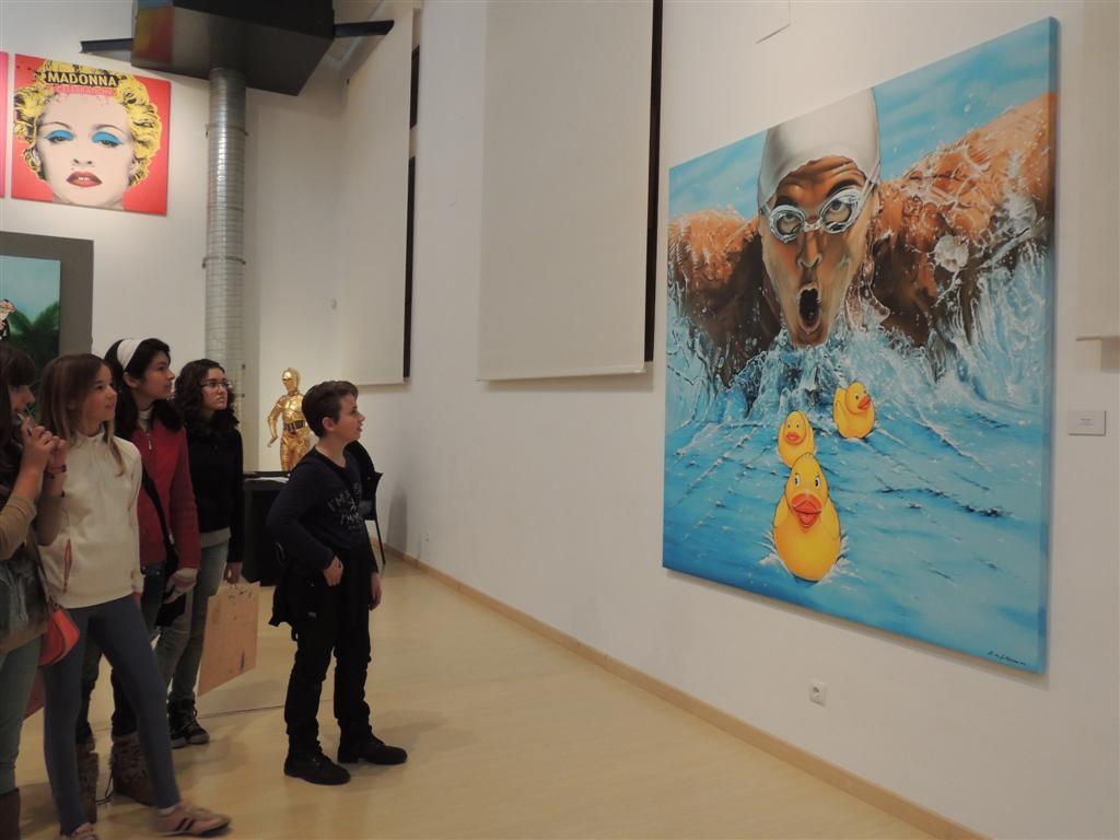 En la exposición de Antonio de Felipe
