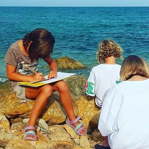 Talleres de pintura frente al mar